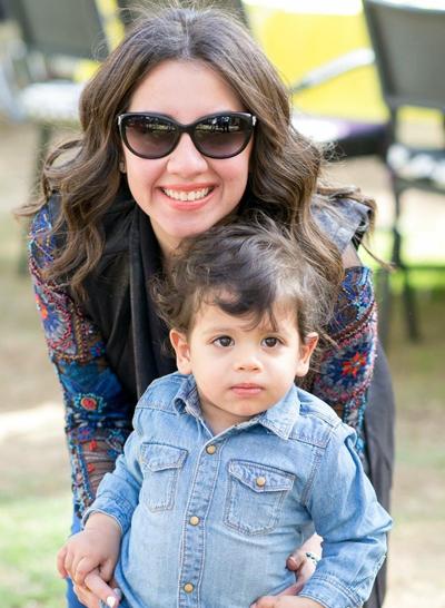 Heba Abou El Eid with her kid