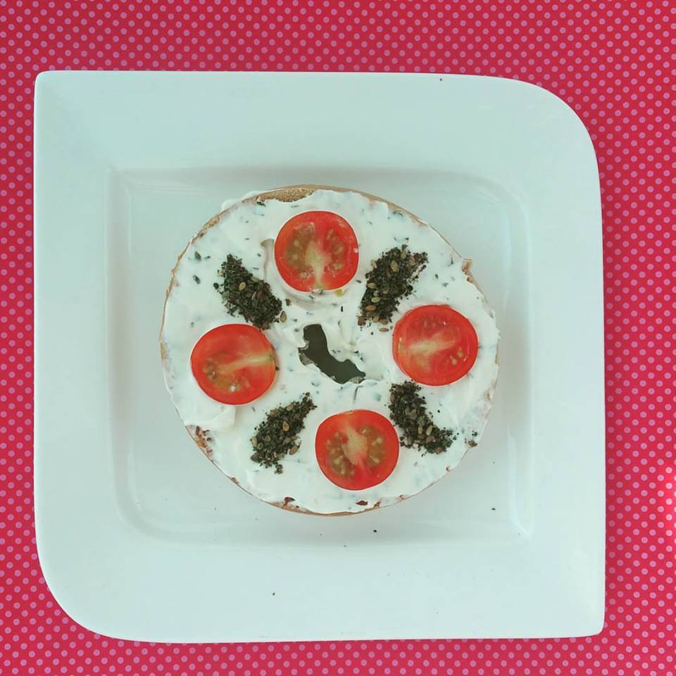 Zaatar Cheese Bagel