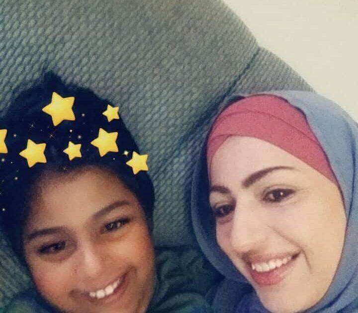 Dua Hayek with her kid