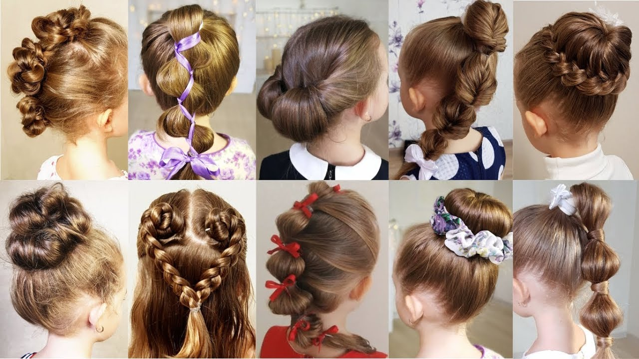 Easy peasy hairstyles for your daughter's return to school