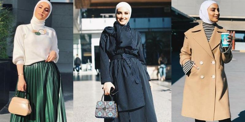 4 أفكار لإطلالات الخريف والشتاء من مدونات الأزياء للمحجبات