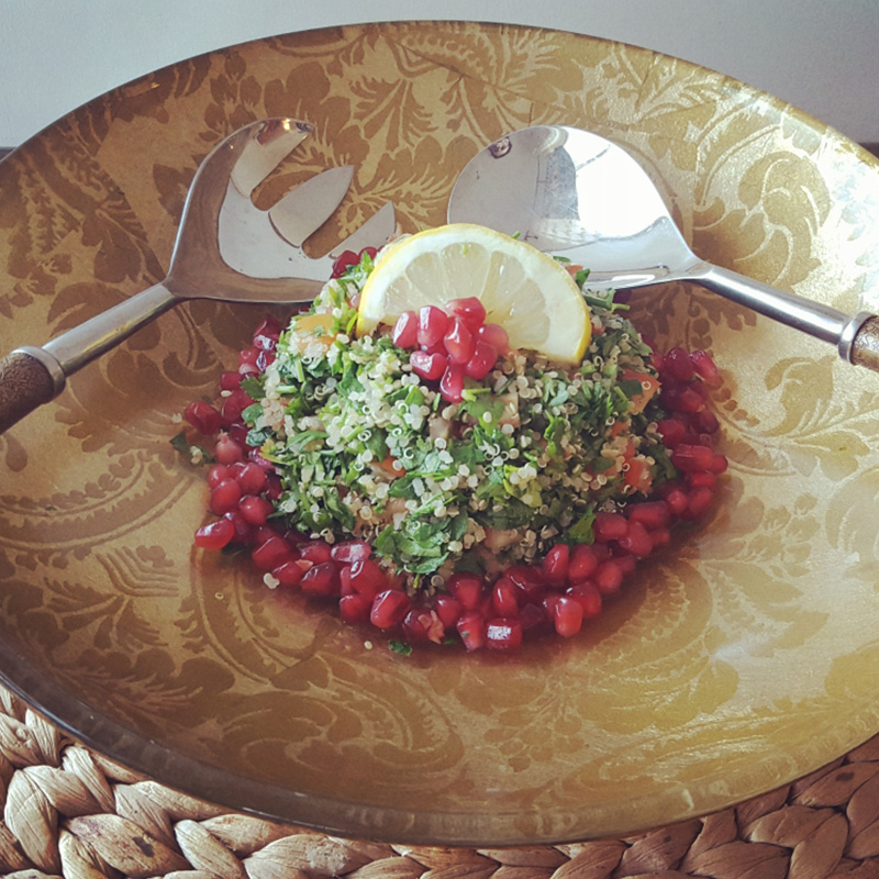 How to Make Spinach and Parsley Tabbouleh