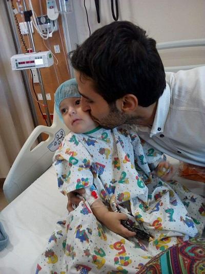 صورة الطفلة جود قبل العملية