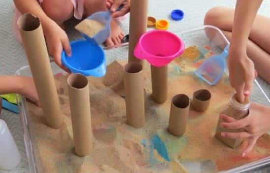 صندوق، الرمل، نشاط، تعليمي