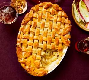 Apple, cheese and potato pie
