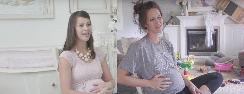 الفرق بين الحمل الأول والأحمال التي تليه في فيديو مضحك