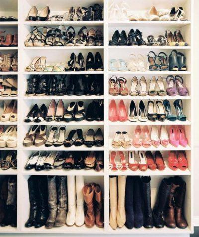 ترتيب الأحذية حسب النوع