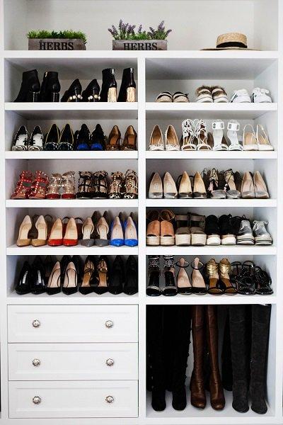 تصميم خزانة خاصة لترتيب الأحذية