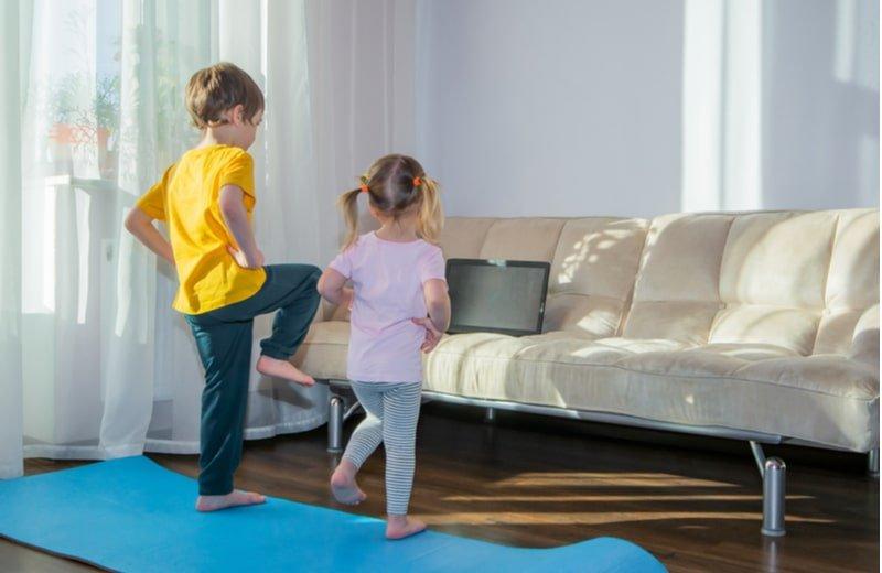 تمارين رياضية للأطفال في المنزل