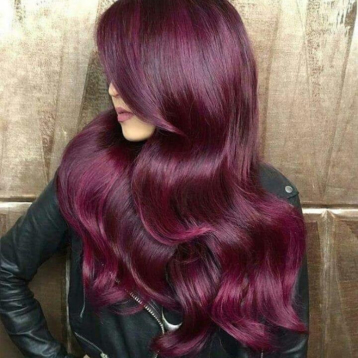 صبغة شعر لون قرمزي