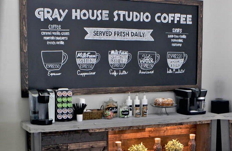 9 أفكار لديكور ركن القهوة في المنزل
