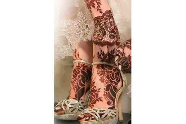 نقش حناء للعروس