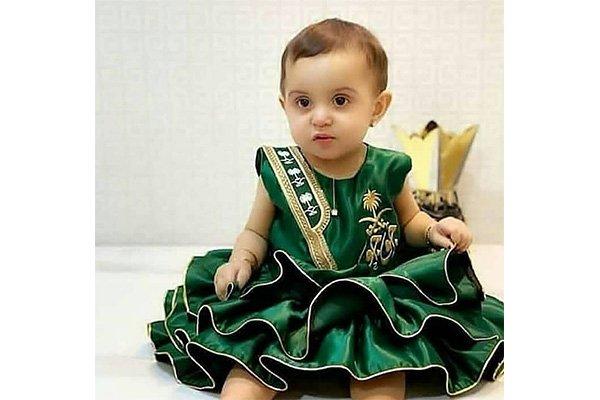 فستان اليوم الوطني للأطفال
